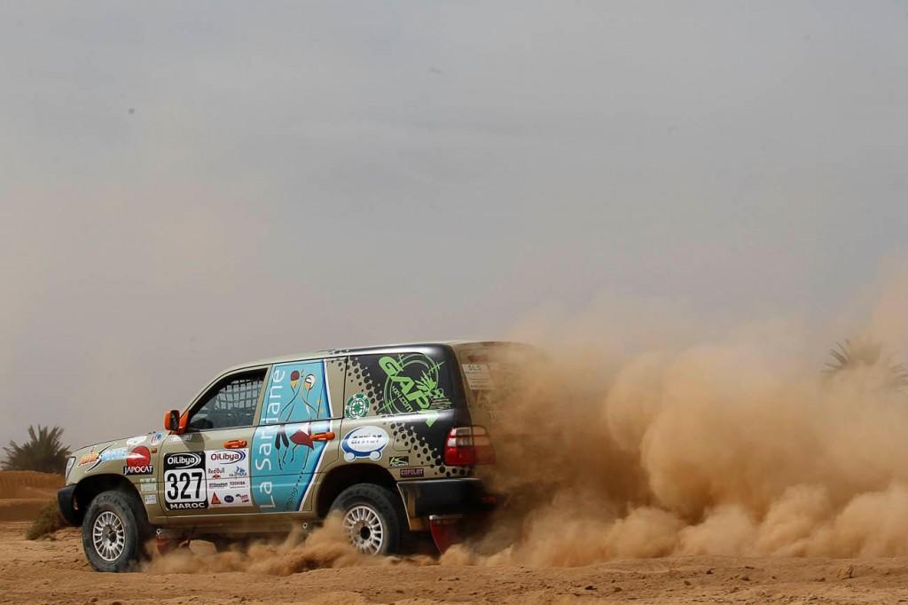 boitier additionnel 4X4 Kitpower sur le rallye raid avec GAPA 4X4 sur Toyota Land Cruiser