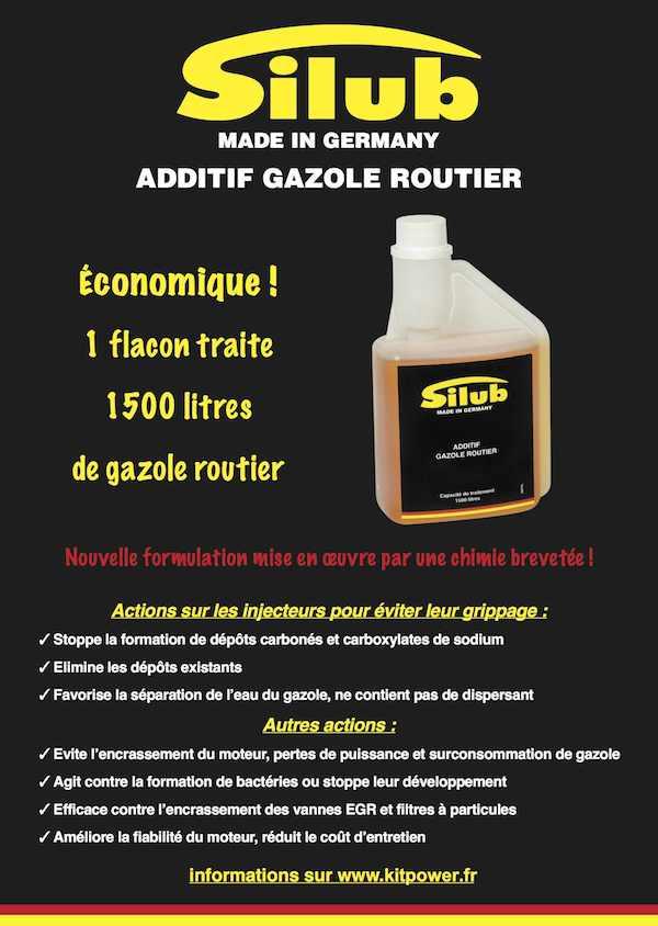 Les effets des l'additif Silub Gazole carburant
