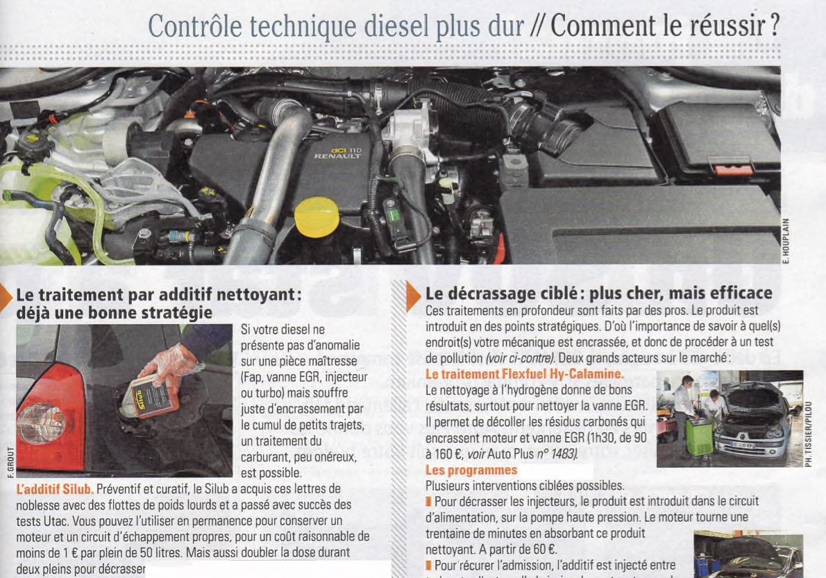 Additif Silub Gazole dans Auto Plus